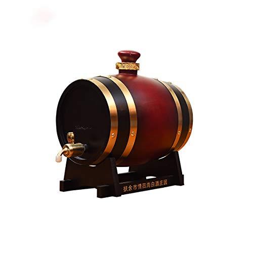 XER 30 Liter Whiskey Barrel Dispenser Hout Eiken Wijnvat Decanter voor het serveren tafel Home Accent Display Opslag van Geesten