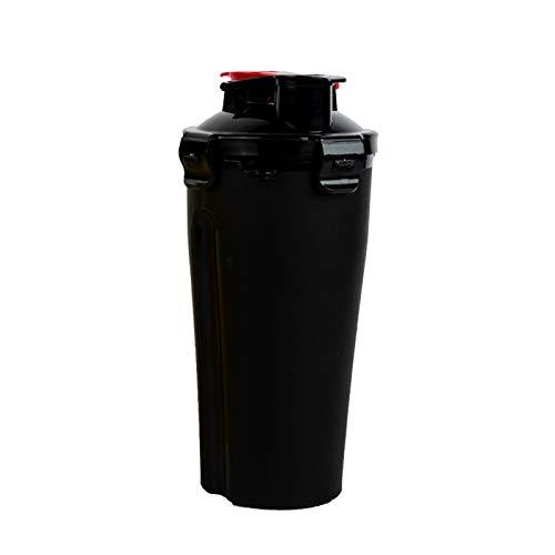 LSGMC Botella Coctelera Clásica De 700 ML, Portátil, para Exteriores,Negro