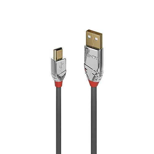 LINDY 36632 2m USB 2.0 type A aan mini-B kabel, Cromo Line antraciet