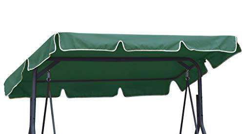 Ferocity Universal Sonnendach für Hollywoodschaukel Dach-Plane für Garten-Schaukel Dachplane Ersatzdach ca 210 x 145 cm Grün [101]