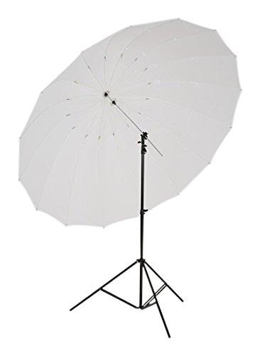 Lastolite LL LU7915F Kit con Mega Ombrello, Diametro 157 cm, Argento e Custodia Traslucida
