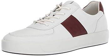 ECCO Men s Soft 8 Classic Sneaker White/Rust 9-9.5