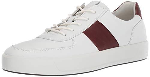 ECCO Men's Soft 8 Classic Sneaker, White/Rust, 43 M EU (9-9.5 US)