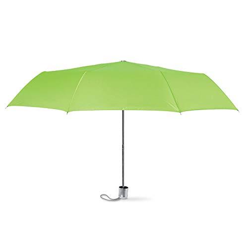 Kleiner Regenschirm für die Tasche, idealer Taschenschirm im kleinen, Mini Format, manuelle Öffnung, 7 versch. Farben, Ø94 von notrash2003 (Limette)