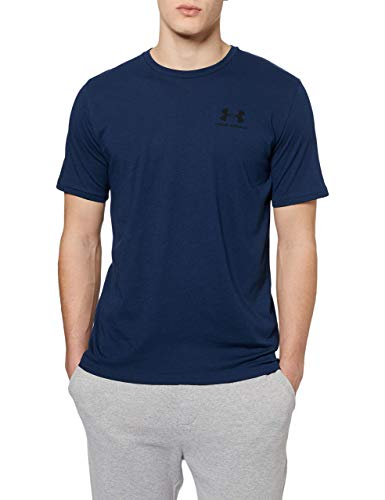 Under Armour Sportstyle Left Chest Maglietta A Maniche Corte, Uomo, Blu, XL