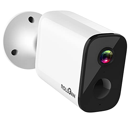 Security Camera Outdoor Wireless, Rechargeable Battery Powered Cam 1080P HD Wire-Free Smart Surveillance Home Security WiFi IP Cameras with Night Vision, PIR Motion Alerts, 2-Way Audio, Waterproof