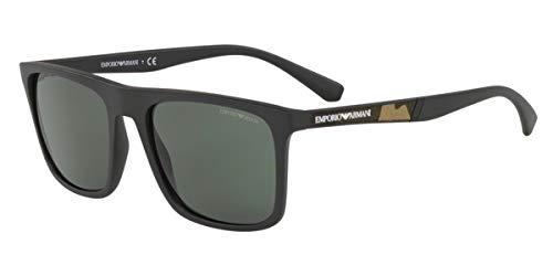 Emporio Armani 0EA4097 Gafas de sol, Matte Black, 56 para Hombre