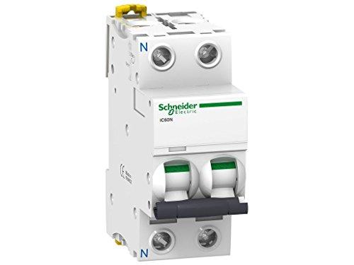 Schneider Electric A9F74604 Interruptor Automático Magnetotérmico Ic60N, 1P+N, 4A, Curva C