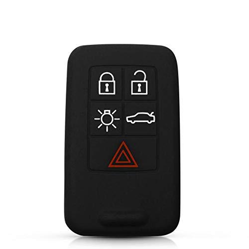 ASHDelk Cubierta de la Caja Fob Remote Key Shell Car Key 5 Botones, para Volvo XC60 S60 S60L V40 V60 S80 XC70