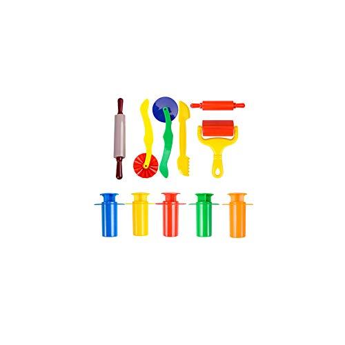 11 piezas de plástico resistente de plastilina herramientas Conjunto Extrusoras coloridas básico Masa Herramientas divertido plastilina Suministros