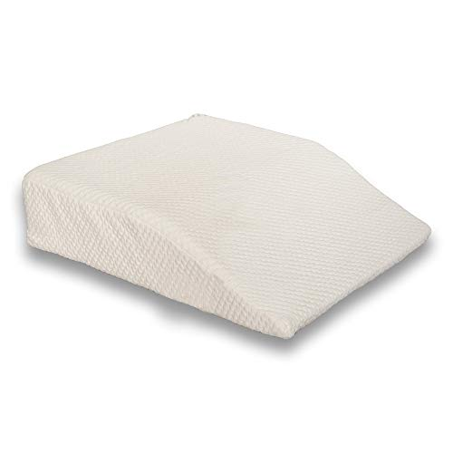 """Back Support Systems The Leg Wedge - Memory Foam - Reduces Swelling - Improves Circulation - Post Surgery Leg Rest Pillow - Best for Hip, Knees, Feet and Ankles (6"""" Elevator)"""