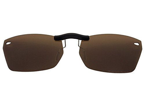 Custom Fit Polarized CLIP-ON Sunglasses For Ray-Ban RB5255 51X16 Brown