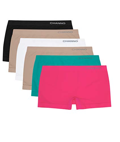 Bragas Culotte Shorts de Lycra Sin Costuras Suaves y Cómodos (Pack de 6) (Surtido, U)