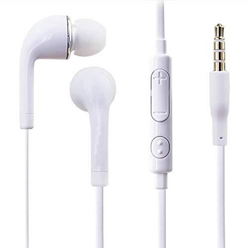 CNmuca Fones de ouvido J5 I9300 para celular Fones de ouvido com ajuste de trigo J5 / Jb Fones de ouvido intra-auriculares universais brancos