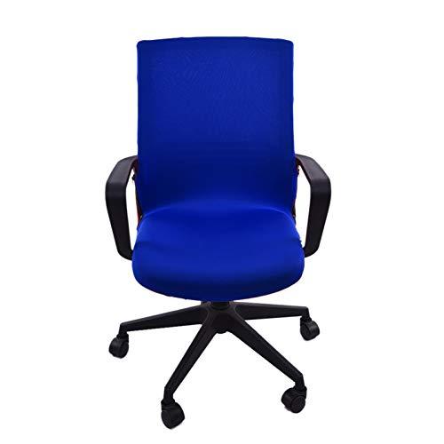 Augneveres Büro Computer Stuhlbezug, siamesische Bürostuhlbezug Drehstuhl Computer Sessel Protector Schreibtisch Boss Sessel Stuhlbezug Schönbezug (Medium, L)