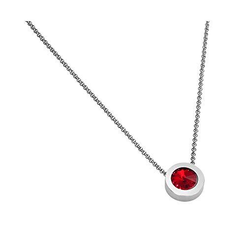 Heideman Halskette Damen Coma 16 aus Edelstahl Silber Farben matt Kette für Frauen mit Swarovski Zirkonia Weiss oder farbig mit Erbskette in verschiedenen Längen Siam Gr. hk2128-1-208-40