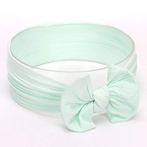 Accessori per Capelli Styling Bowknot Mignon bébé Fille Bandeau Serre-tête Bandeaux Bandeaux (Couleur : Mint Green#12)