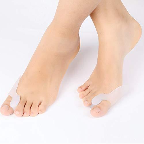 Separadores de dedos de los pies con 4 pares, alivian el dolor y corrigen los dedos superpuestos, juanetes, dedos torcidos, adecuados para el día y la noche