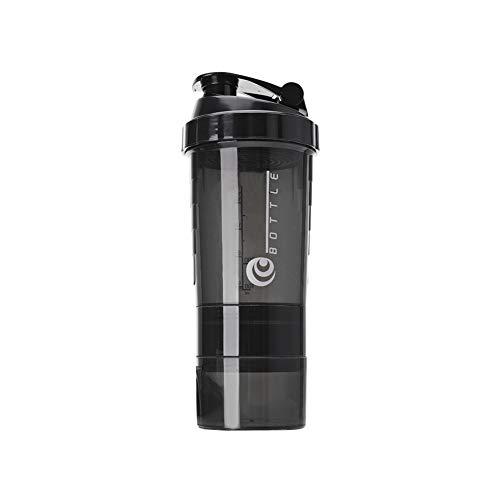 Shaker Bottle 17oz Blender Shaker Bottle | No Blending Ball or Whisk Needed | Best Portable Pre Workout Whey Protein Drink Shaker Cup | Mixes Cocktails Smoothies Shakes | Dishwasher Safe Black