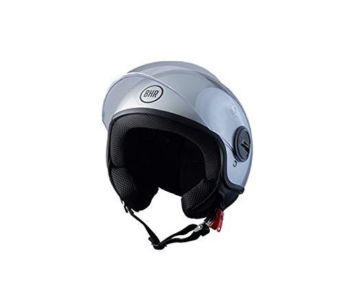 BHR Helmets 808First - Casco Moto Unisex - Adulto, argento, XL