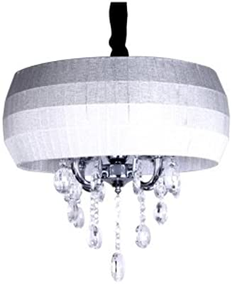 hua Changing Color Drum Shade Brilliant and Beautiful Hand Cut Crystals Chandelier
