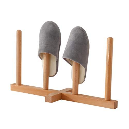 ZZYE Zapatero Torre de Madera Maciza Apilable Zapato de Zapatos Dormitorio Inodoro Marco de Deslizamiento para Sala de Estar Entrada de baño - Se Adapta a 2 Pares de Zapatillas Perchero Zapatero