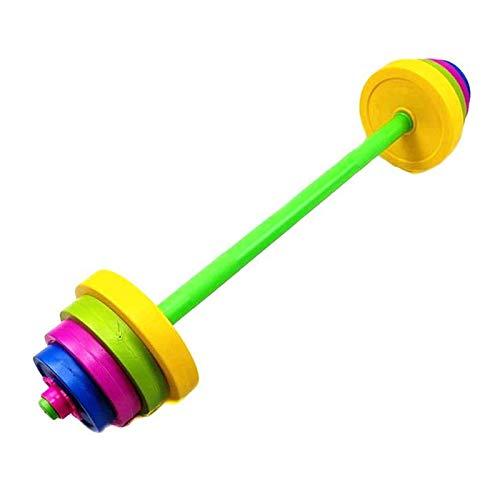 11 Unids/Set Niños Barbell Set Kids Dumbbell Set Culturismo Equipo De Ejercicio Entrenamiento Músculo para Niños Gym Home