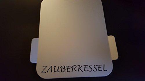 BSB Gleitbrett L ZAUBERKESSEL Alu silber eloxiert geeignet für einen Thermomix® und andere