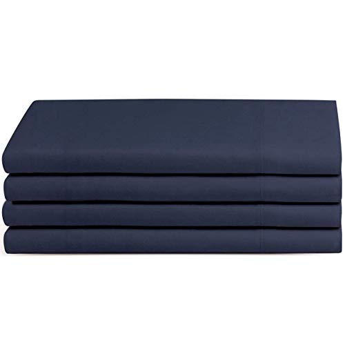 Beckham Hotel Collection Soft Brushed Microfiber Wrinkle Resistant Luxury Queen Pillow Case 4 Pack Navy