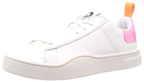 Diesel Damen S-clever Low Lace W Sneaker, Mehrfarbig (White/Fluo Pink H7787-P0299), 38 EU