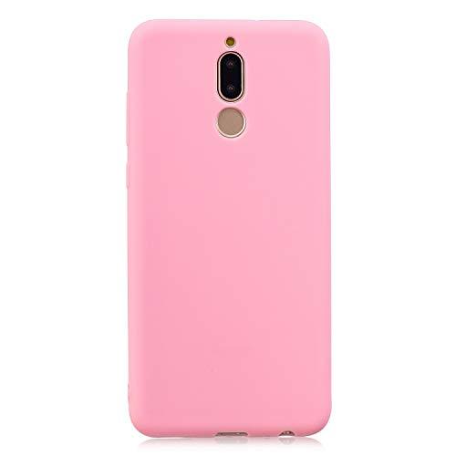cuzz Custodia Huawei Mate 10 Lite+{Film di Vetro temperato}Silicone TPU Cover Morbida Protettiva Custodia Ultra Sottile Leggero Cover-Rosa Scuro