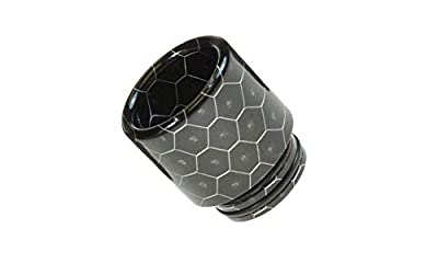 Armerah Snakeskin 810 Drip Tip eCig Mouthpiece Short/Wide Epoxy Resin Single Black
