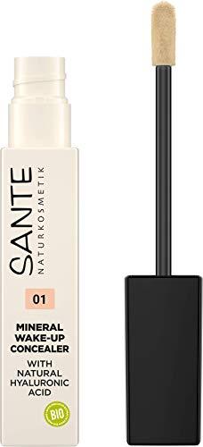 SANTE Naturkosmetik Mineral Wake up Concealer 01 Neutral Ivory, Deckt Schatten und Makel ab, Zum Contouring geeignet, Vegan, 8ml