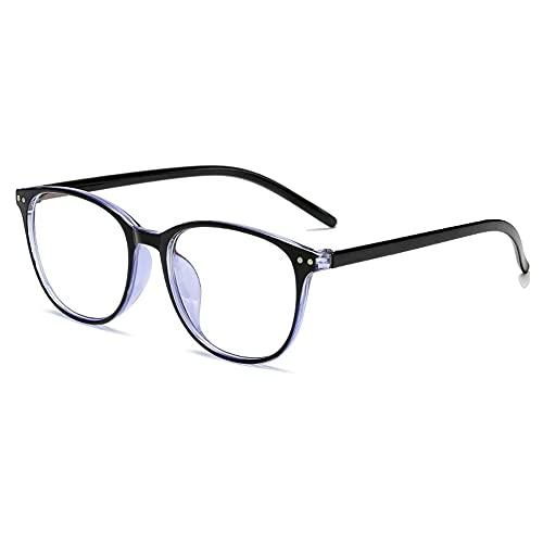 Gafas de lectura de alta definición anti-luz azul, adecuadas para hombres y mujeres de mediana edad y ancianos, marcos livianos, lentes anti-azules de alta definición para proteger los ojos