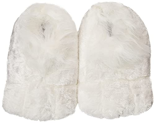 Rubie's Plush Adult Bunny Shoes, White, One Size