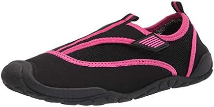 Amazon Essentials Unisex Kids' Water Shoe, Pink/Black, 4/5 M US Big Kid