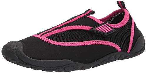 Amazon Essentials Unisex Kids' Water Shoe, Pink/Black, 13/1 M US Big Kid