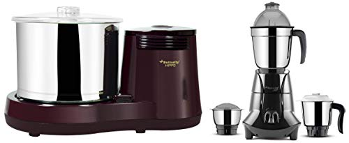 Butterfly Hippo 750W Wet Grinder and Mixer Grinder with 3 Jars