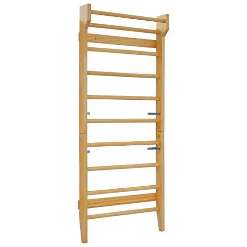 lyrlody- Holz Wandstangen Sprossenwand für 50 kg Benutzergewicht für Physiotherapie und Gymnastik, Holz,...