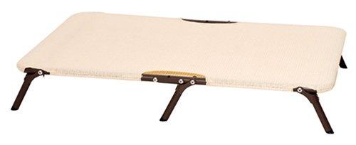Coolaroo Erhöhtes Haustierbett, faltbar, Stahlrahmen, mittelgroß, Stahlgrau