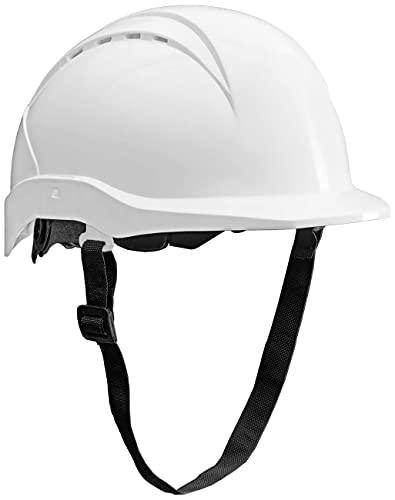 ACE Patera Casco Obra - Casco Seguridad - Casco de Trabajo con Cierre de Rosca, Ventilado y Ajustable - Blanco ✅