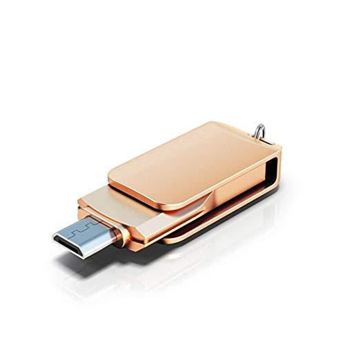 LIMTT USB Memory Stick, Flash Drive, Thumb Drive USB Stick Type C USB Externe Opslag U Schijf Compatibel voor USB C telefoons, Tablets, Foto Stick voor Samsung 64GB Goud