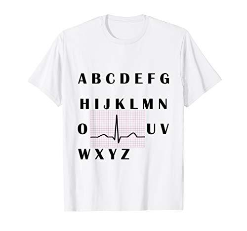 PQRST heartbeats Nurse t-shirt Alphabet PQRST wave nurse T-Shirt