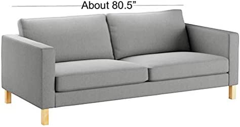 Best Sofa Cover Only! Durable Cotton Karlstad Three Seat (Not Loveseat !) Sofa Cover (Width: 205CM) Repla