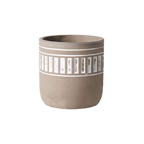 Maceteros Macetas de cemento de hormigón Jardineras - 4.7' Medium Crisol Con agujero for drenaje -...
