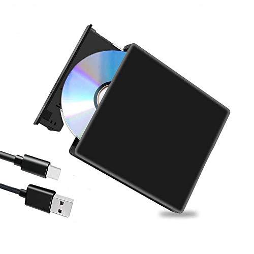 Grabador de Unidad de DVD BLU Ray Externo 3D,USB 3.0 Unidad Externa Súper-Slim Portátil Reproductor de BD/CD/DVD RW Delgado portátil para Windows 10/7/8/Vista/XP/Mac OS Linux