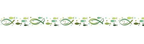 Ursus 590500194 - Masking Tape Green Spirit, ca. 15 mm x 10 M, grün/weiß