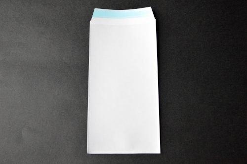 PFメール 長3 【1,000枚 @6.44円】 フィルム+紙封筒 切手/筆記可 静電気防止処理テープ付き 折線付き 表:全面白紙/裏:透明 OPP50μ(0.05mm) 紙80g UV印刷可(ask)