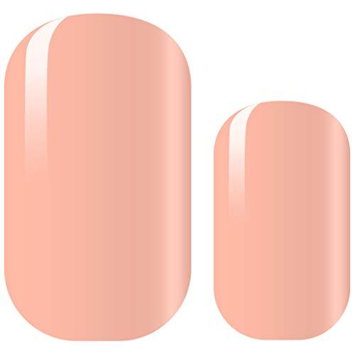 "AVOA Beauty Nagelfolie -""Send Nudes"", deckend, nude, hautfarben, einfarbiges Design, 16 dünne selbstklebende langanhaltende Nail Wraps"