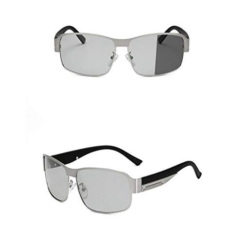 SIMINGSHUAI Gafas de sol fotocrómicas polarizadas Rectángulo Gafas de sol polarizadas Día Visión nocturna Conducción Gafas de sol Fotocromáticas